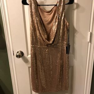 Lulu's Dresses - Rose gold Lulus dress